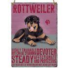 Enamel hanging sign 9cm x 6.5cm (Rottweiler)