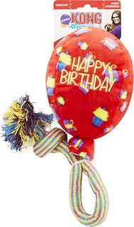 KONG Occasions Birthday Balloon Toy Red Medium