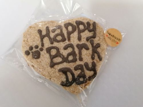 Happy Barkday Heart Biscuit
