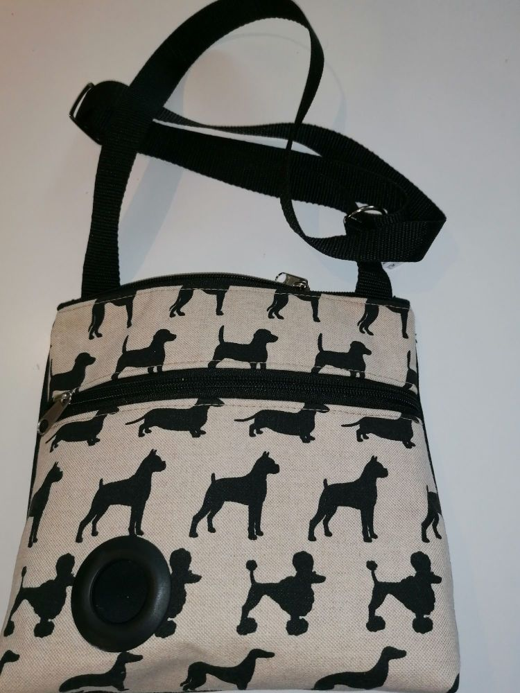 Black Dogs Walking Bag