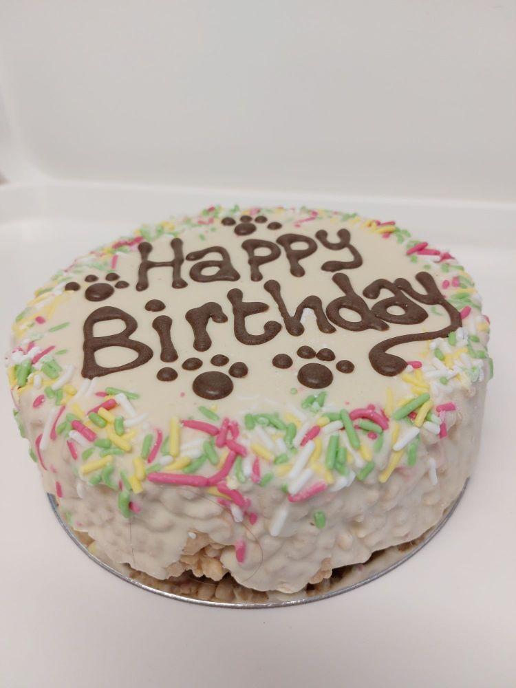 Medium sized krispie birthday cake