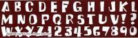 Pattern Wheel: Funky Font - sale £4