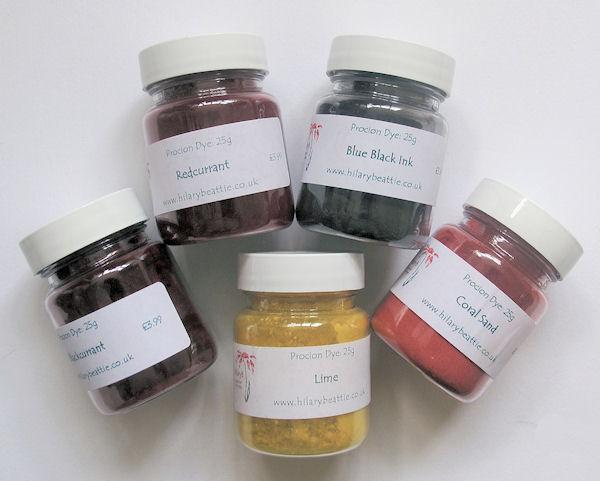 Procion Dyes 25g pots
