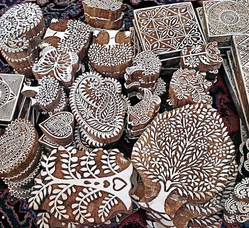 Indian Wood Printing Blocks