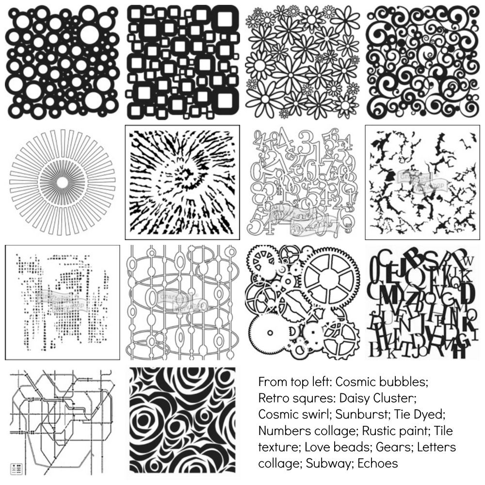 Crafters Workshop Stencils - SALE