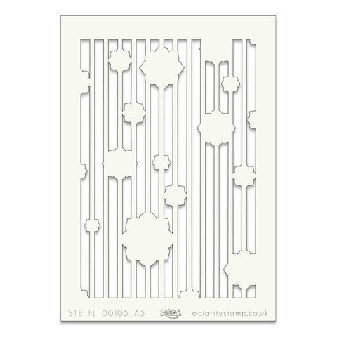 Floral Stripe A5 stencil