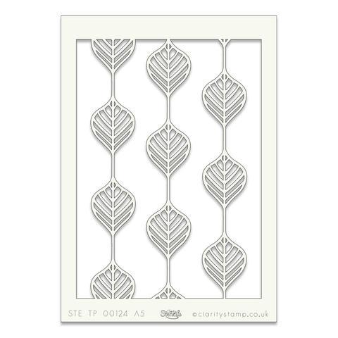 Leaf Line A5 stencil