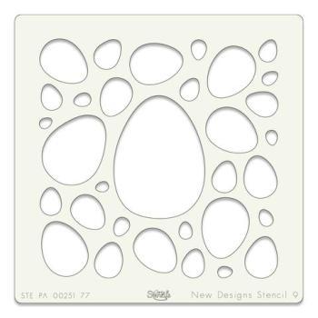 """Eggs 7"""" x 7"""" stencil"""