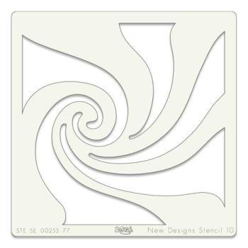 """Whirlpool 7"""" x 7"""" stencil"""