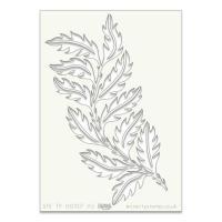 """Leafy Strip A5 stencil (8"""" x 6"""")"""