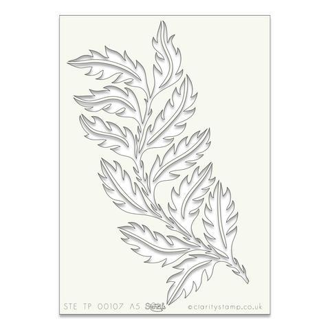 Leafy Strip A5 stencil