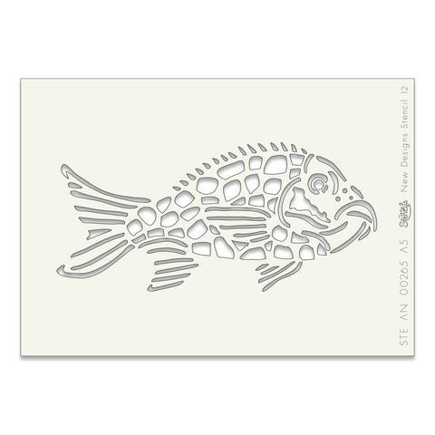 Fish A5 stencil