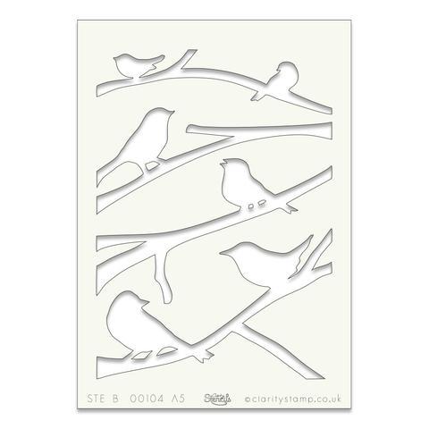 Birds on Branches A5 stencil