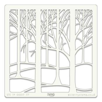 """Treescape 7"""" x 7"""" stencil"""
