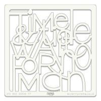 "Time 7 Tide 7"" x 7"" stencil"