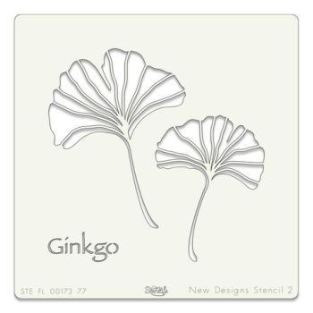 """Ginko Leaf 7"""" x 7"""" stencil"""