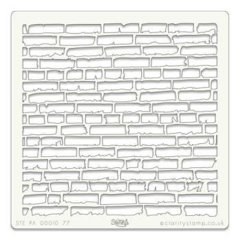 """Brick Wall 7"""" x 7"""" stencil"""