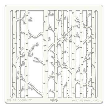 "Birch Trees 7"" x 7"" stencil"
