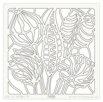 "Wild Seedhead and Pods 7"" x 7"" stencil"