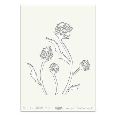 Plant 1 A5 stencil (8