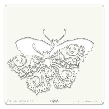 """Butterfly 7"""" x 7"""" stencil"""