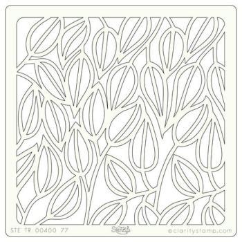 "Entangled Leaves 7"" x 7"" stencil"
