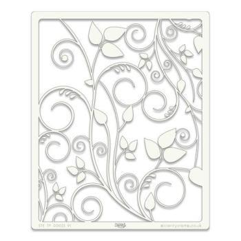 """Leafy Swirl 9"""" x 11"""" stencil"""