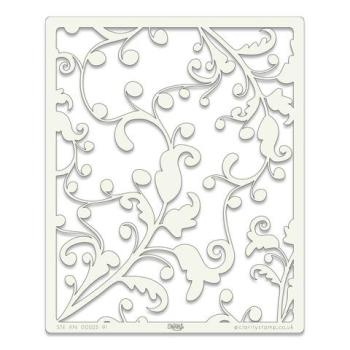 "Ocean Swirl 9"" x 11"" stencil"