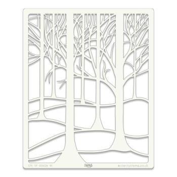 """Treescape 9"""" x 11"""" stencil"""
