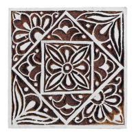 "Large Flower and Leaf Tile - 5"" square was £17.50 now £10"