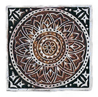 "Mandala Tile 4"" square was £12 now £6"