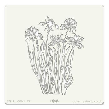 """Wild flowers stencil 7"""" X 7"""""""