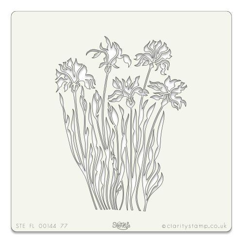 Wild flowers stencil 7