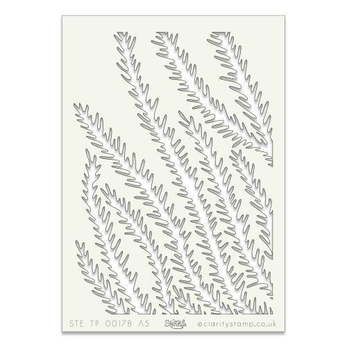 Pine Needle Stencil 7