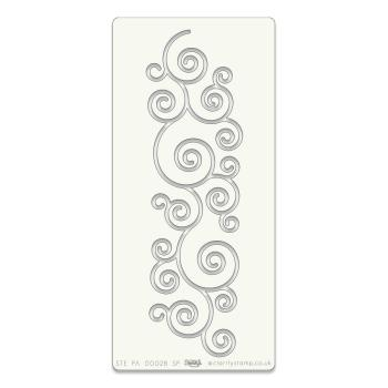"Curly Strip Stencil 9.5"" x 4.25"""