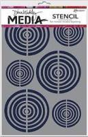 "Dina Wakely Stencil 6"" x 9"" - Bullseye"
