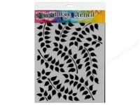 "Dylusions 12"" x 9"" stencil - Fronds of Foliage"