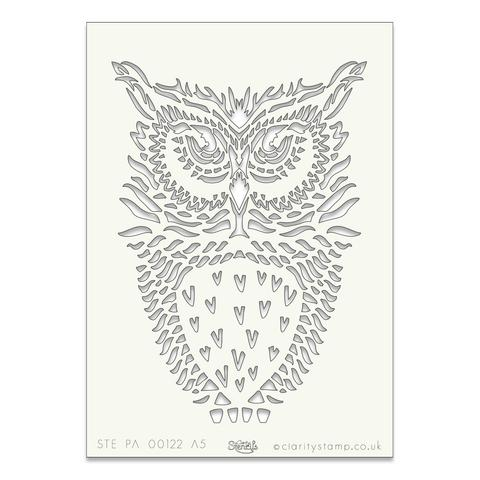 Owl stencil A5 8
