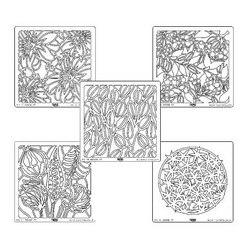 Pods & Foliage Set - 5 stencils 7