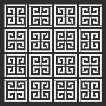 """Greek Key 12"""" x 12"""" stencil"""