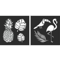 "Tropical Stencils: Set of 2 - 8"" x 8"" each"