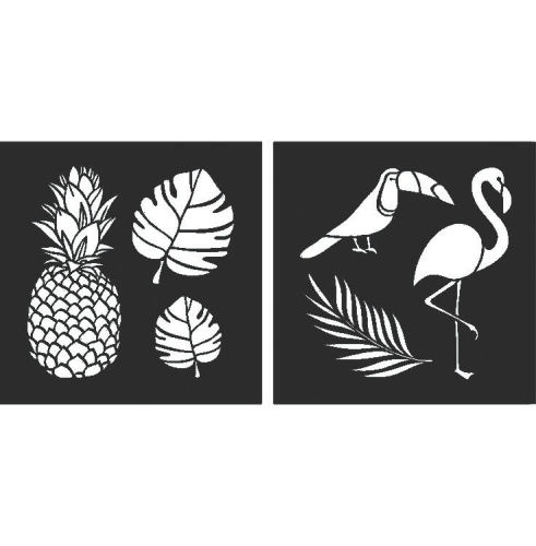 Tropical Stencils: Set of 2 - 8