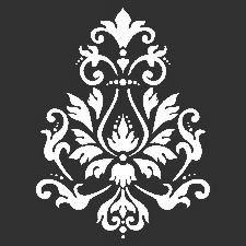 Brcade Motif Stencil: 12