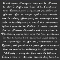 "Old French Script Stencil: 12"" x 12"""