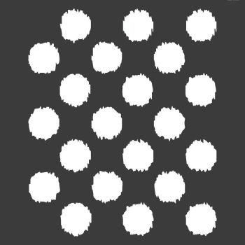 """Ikat Polka Dot Stencil: 12"""" x 12"""""""