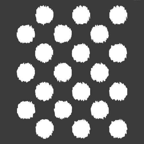 Ikat Polka Dot Stencil: 12