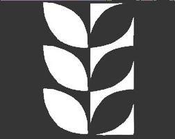 Modern Leaf Notan Stencil: 6