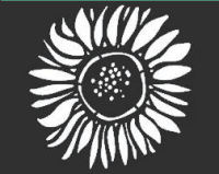 "Sunflower Stencil: 6"" x 6"""