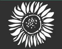 """Sunflower Stencil: 6"""" x 6"""""""