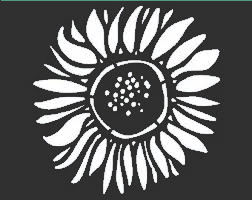 Sunflower Stencil: 6